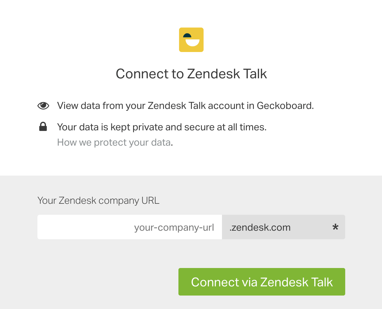 Connect Geckoboard with Zendesk Talk