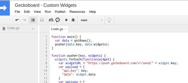 Google Sheets Script Editor