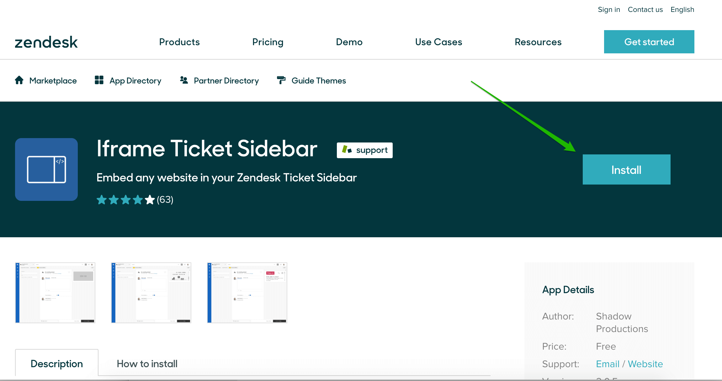 Iframe Ticket Sidebar App for Zendesk Support