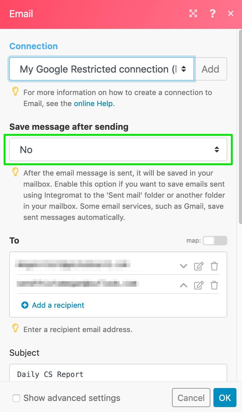 integration Gmail