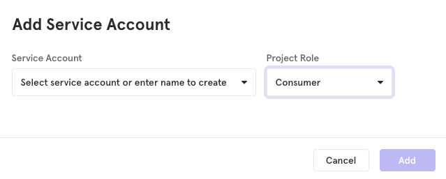 Add a service account in Mixpanel