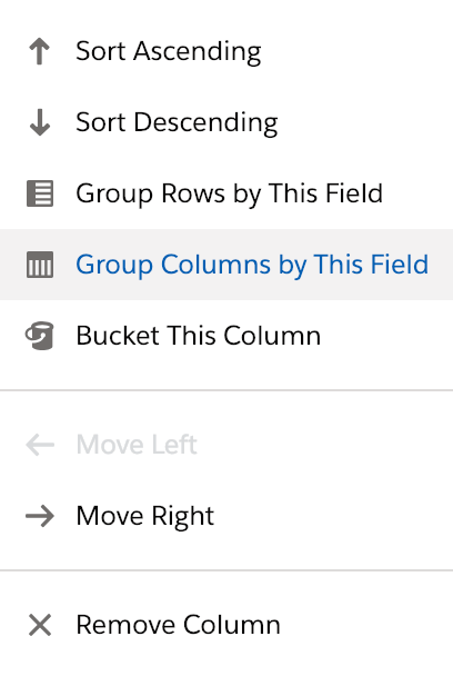 Salesforce Lightning group columns