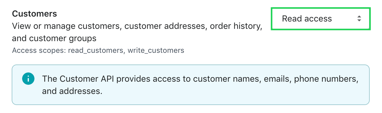 Switch customers to read access