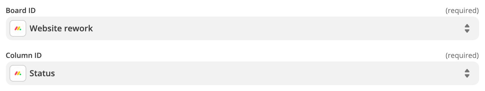 Adding an monday.com trigger in Zapier