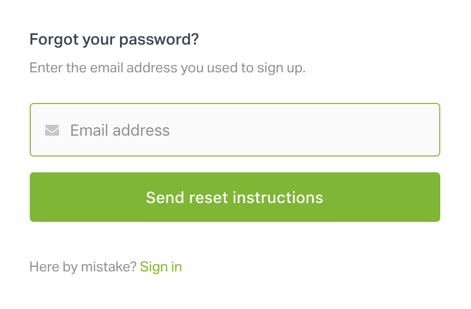how to reset your geckoboard password
