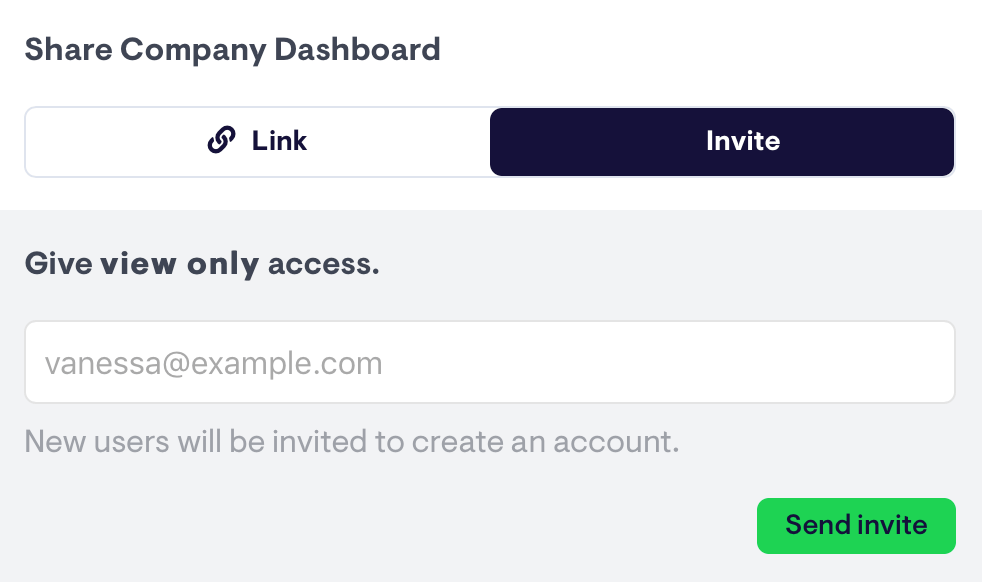 invite view-only users to view a single dashboard