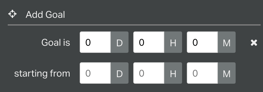 Add time goal to a number widget