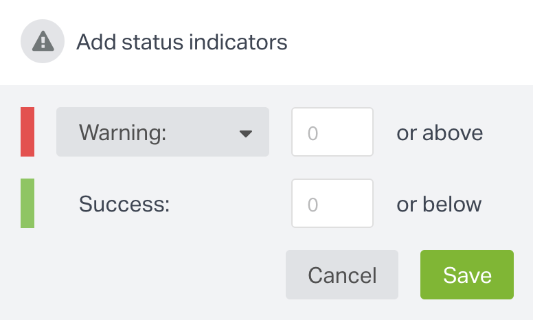 Add status indicators