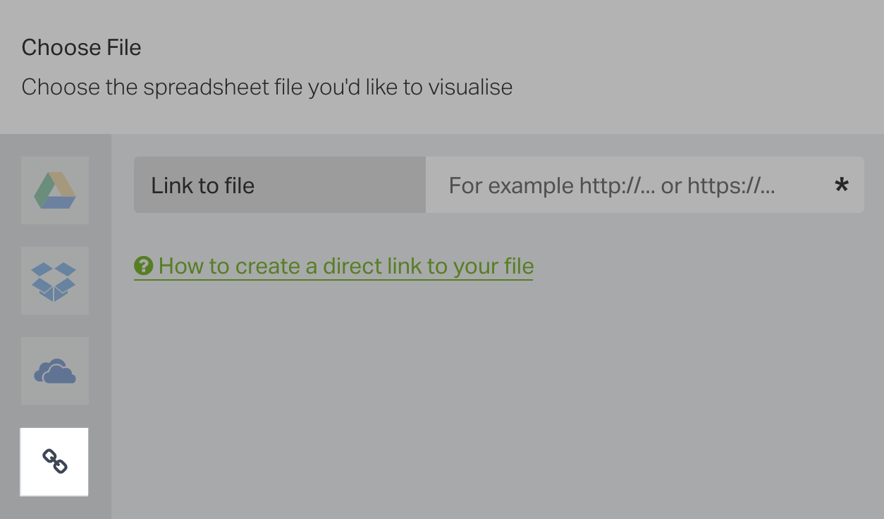 Choose your file from a direct link