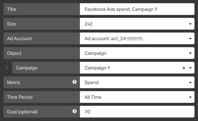 facebook ads spend on campaign tracking