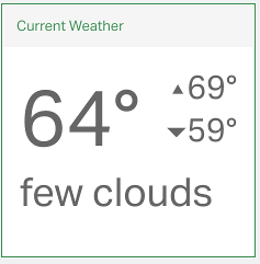 weather widget showing conditions in Seattle WA