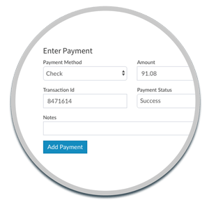 Enter a customer payment manually
