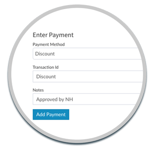 apply a discount to a customer invoice