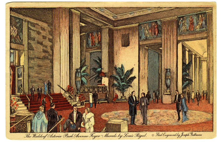 Vintage postcards from the Waldorf Astoria