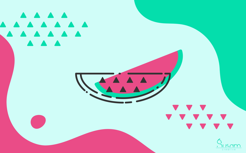 June 2018 Wallpaper Limitless Summer Watermelon Susam Creative
