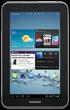 Used Samsung Galaxy Tab 2 7.0