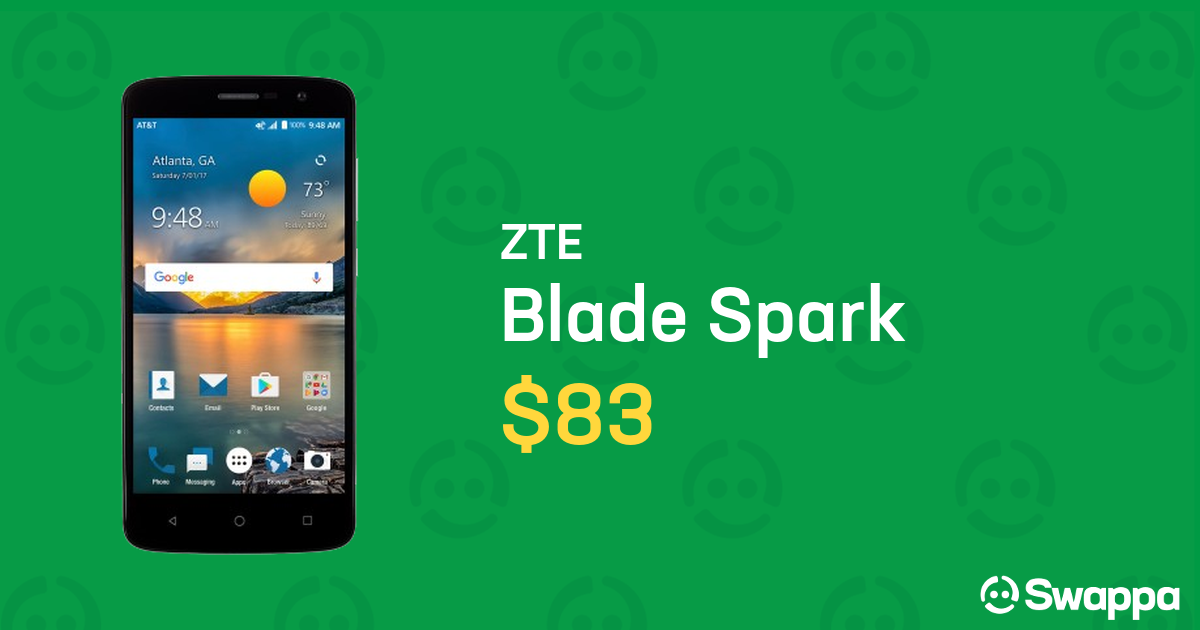 ZTE Blade Spark (AT&T) [Z971] - Gray, 16 GB, 2 GB For Sale - $83 on Swappa  (LRLW51763)