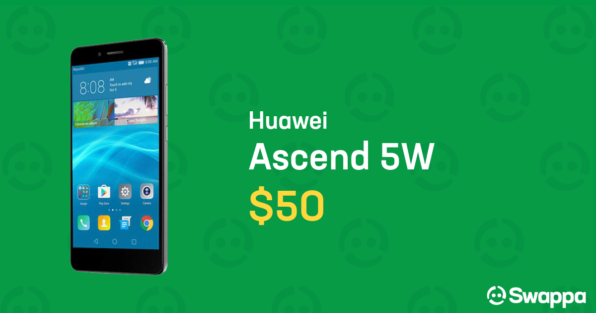 new arrival 30cb0 7b692 Huawei Ascend 5W (Republic Wireless) - Gray, 16 GB, 2 GB For Sale - $50 on  Swappa (LRPT92169)