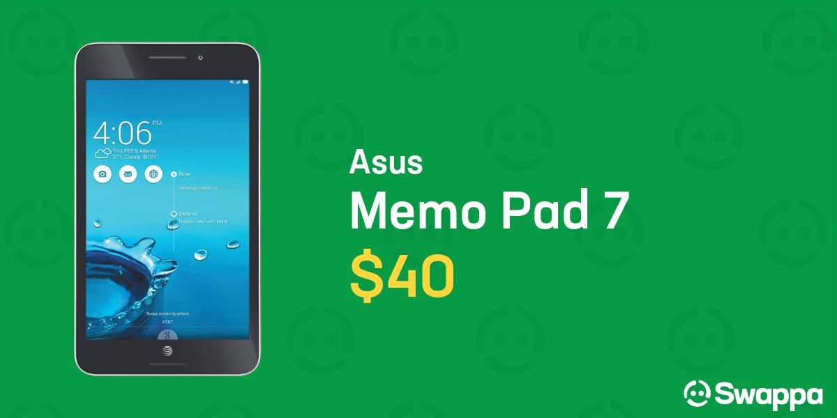 Asus Memo Pad 7 (Unlocked) [ME572CL] - Black, 16 GB