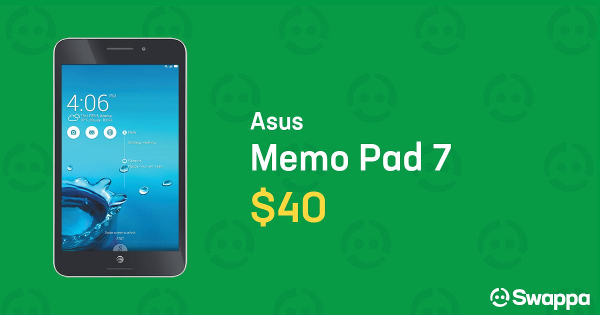Asus Memo Pad 7 (Unlocked) [ME572CL] - Black, 16 GB For Sale - $40 on  Swappa (LRTC13366)