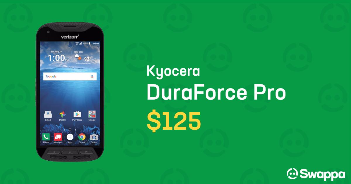 Kyocera DuraForce Pro (Verizon) - Black, 32 GB, 2 GB For Sale - $125 on  Swappa (LRUA74045)