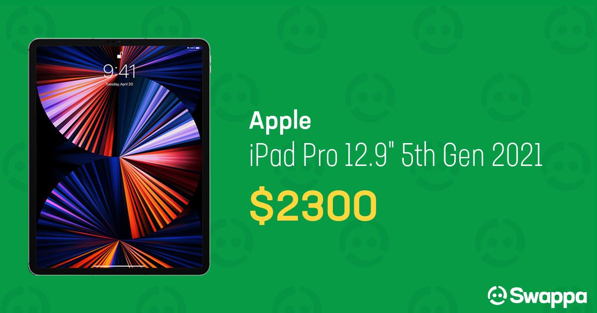 """Apple iPad Pro 12.9"""" 5th Gen 2021 (Wi-Fi) - Gray, 1 TB ..."""