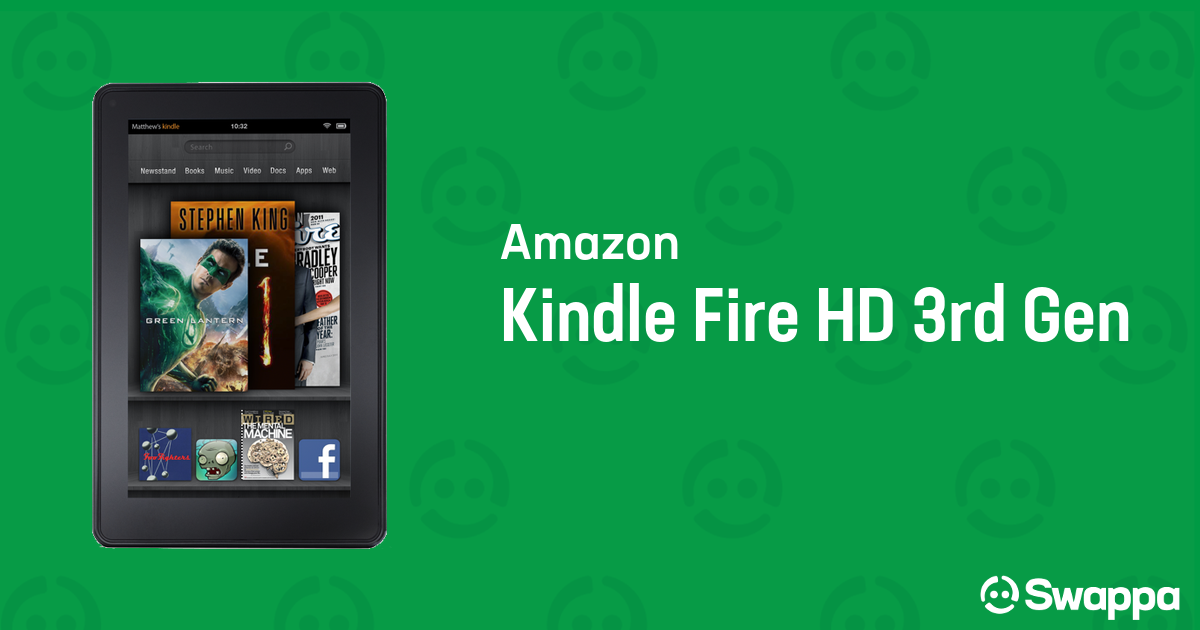 Used Amazon Kindle Fire HD 3rd Gen tablet for sale - Swappa