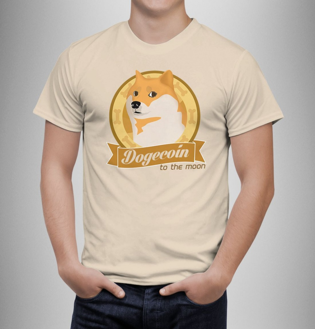 Dogecoin To The Moon t-shirt buy on Swappy