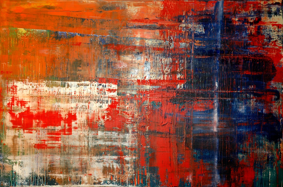Gerhard Richter style abstract painting buy on Swappy