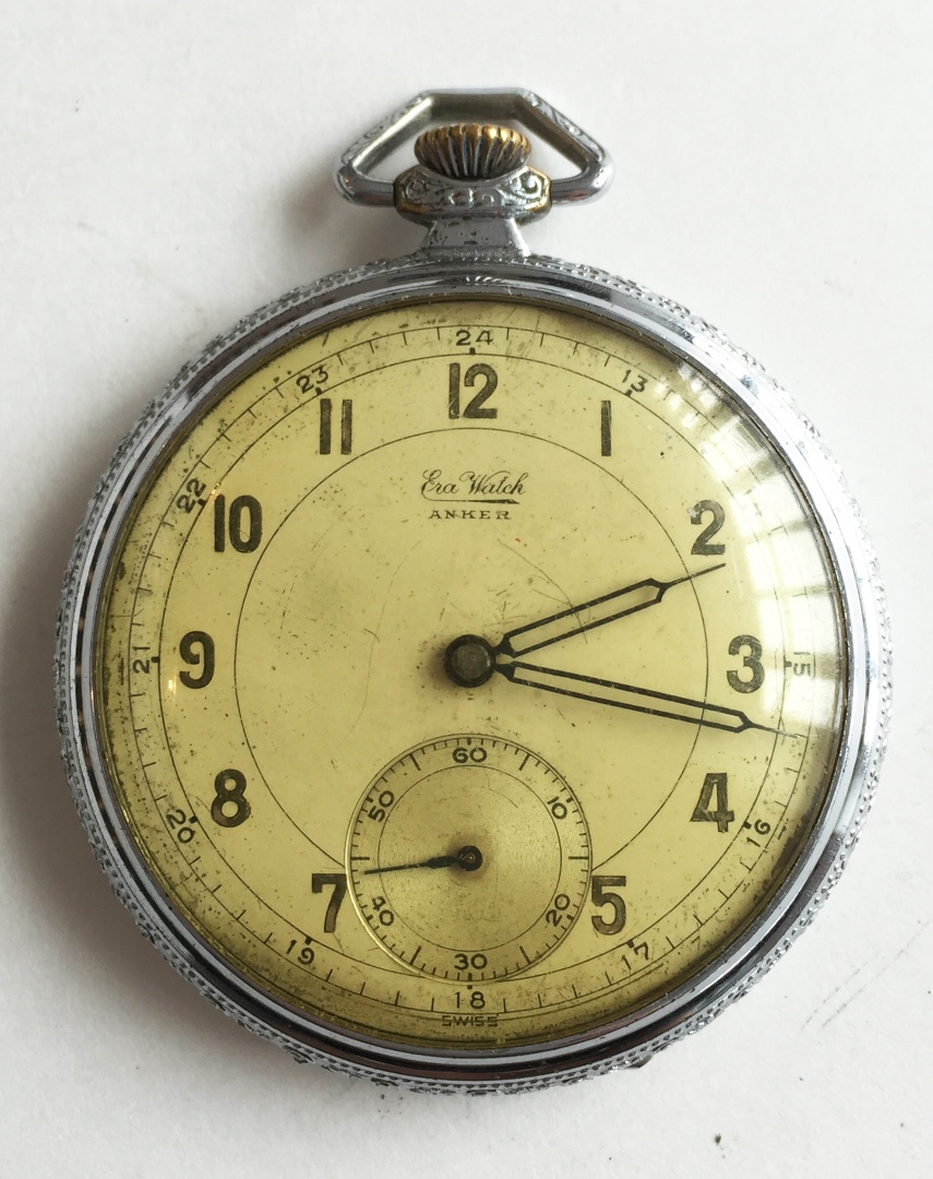 Can vintage waltram silver mens packet watch