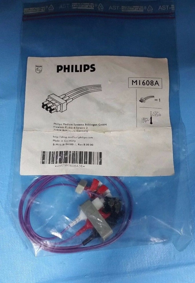 Philips M1608A Cable Unshielded 3 Lead Set Safety