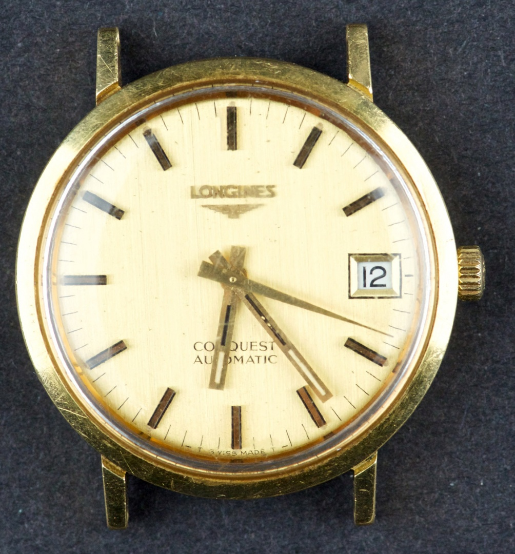 f07b199fcb Vintage 18 Kt Gold Automatic Longines Conquest Watch buy on Swappy