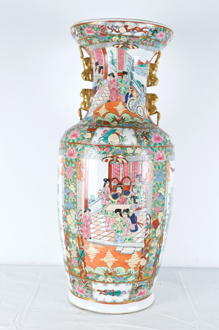 Decorated Traditional Vase C First Half Of 20th Century China