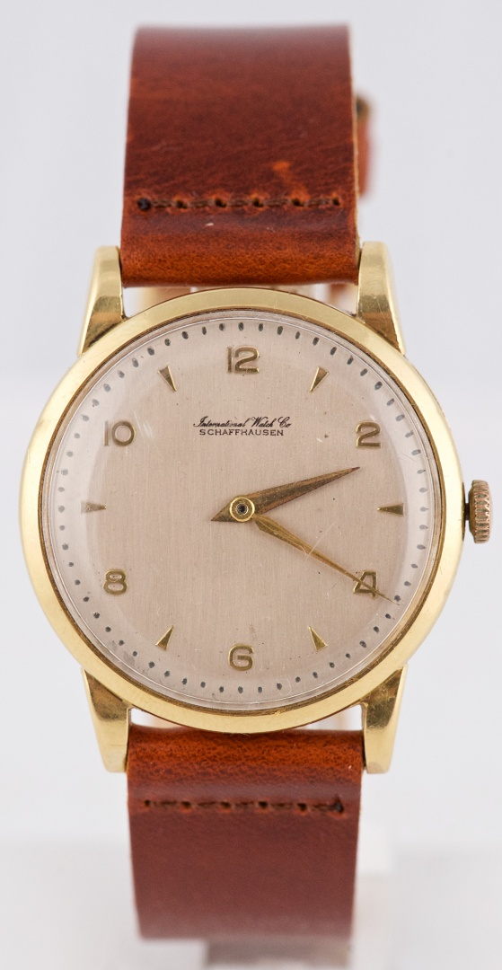 "75e631ab82e 1957 IWC 18K Gold ""Oversized"" Vintage Dress Watch With Calibre 89 ..."