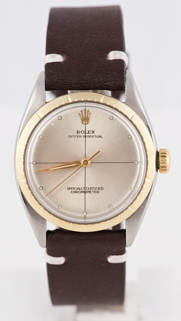 Rare 1959 Rolex Zephyr Two,Tone Reference 6582 Vintage Wristwatch