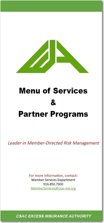 EIA Menu of Services