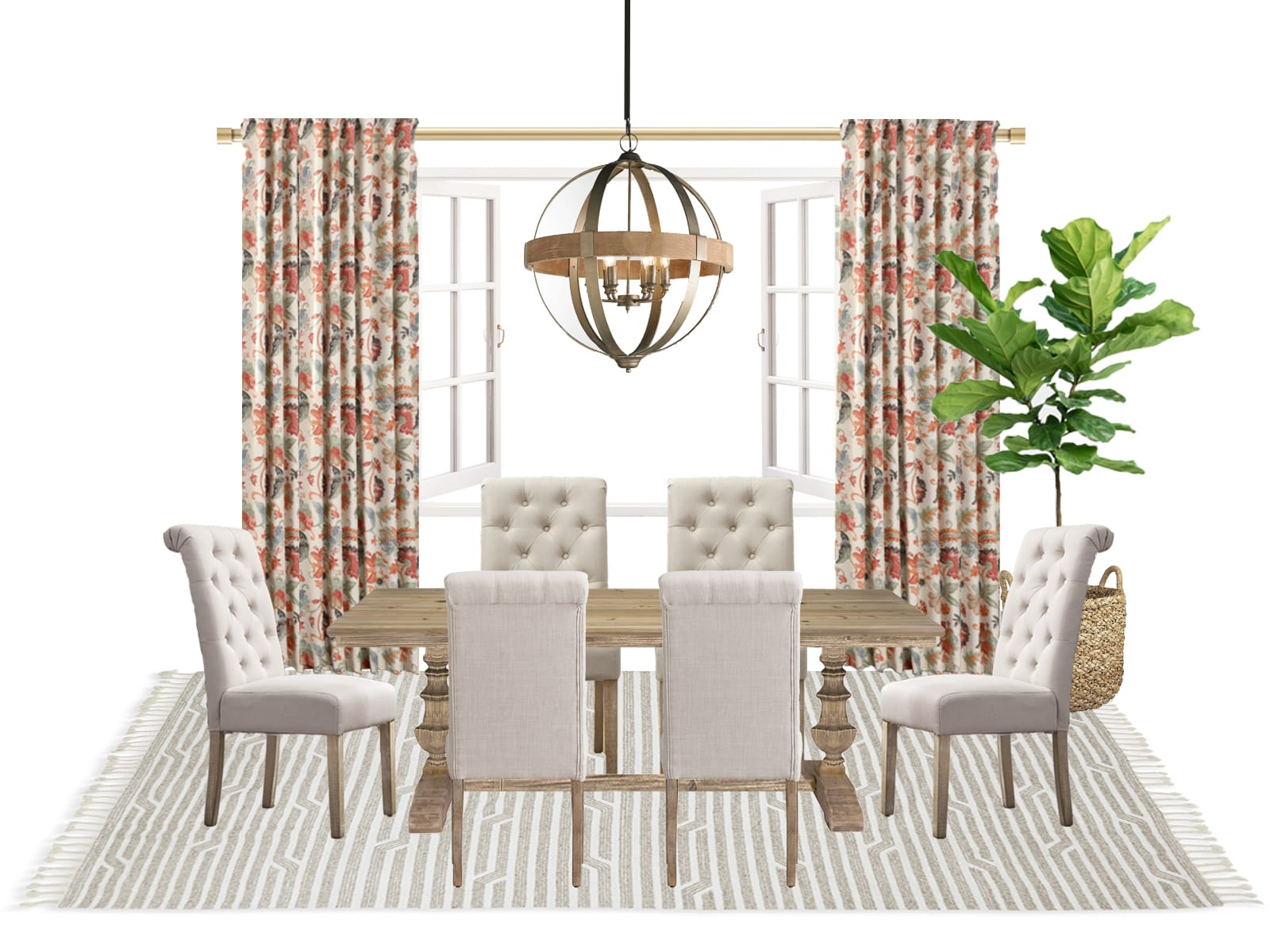 Dining Table Soft and Formal