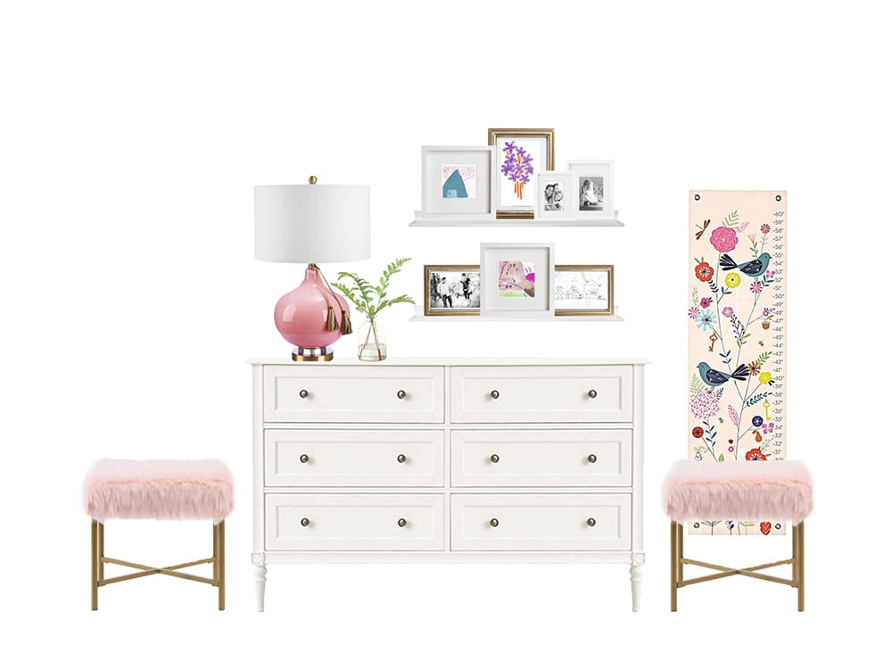 Fancy and Feminie Dresser Interior Design