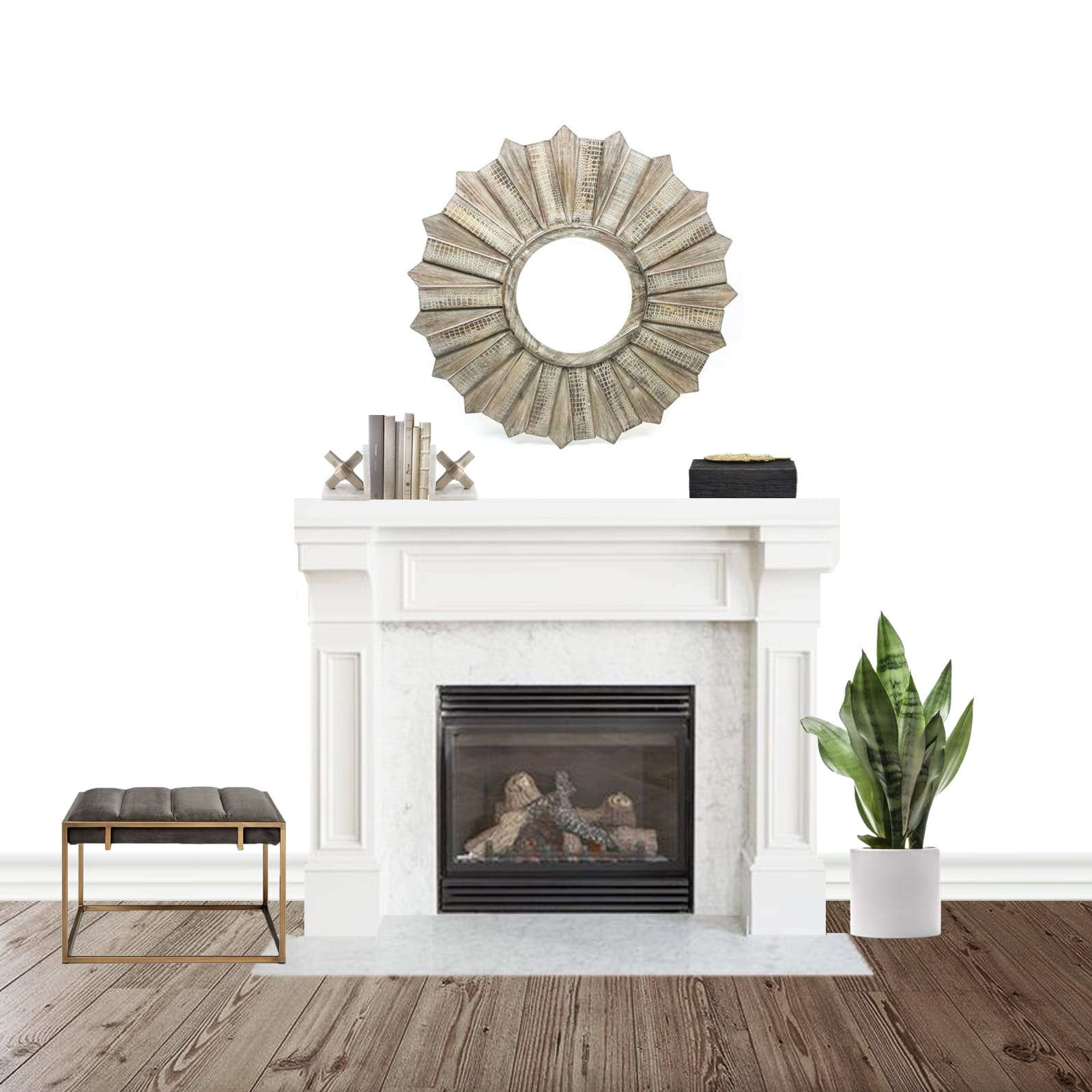 Fireplace Interior Design - Neutral & Sophisticated