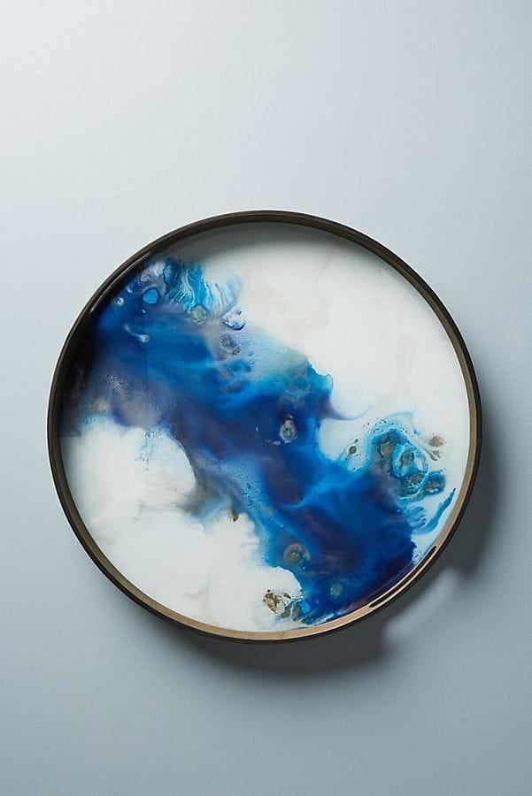 Handpainted Glass Tray