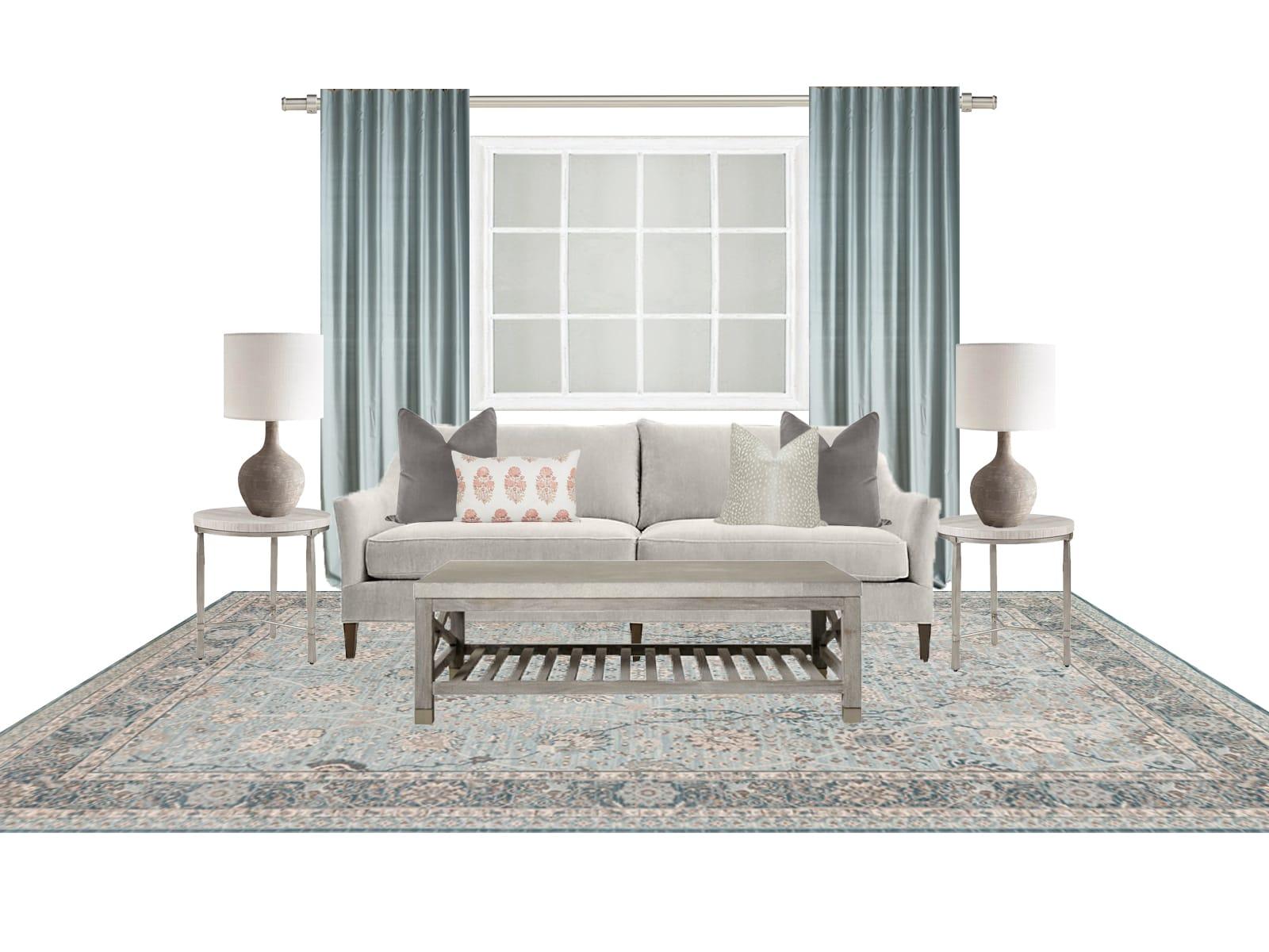 Interior Design Calm and Sophisticated Sofa