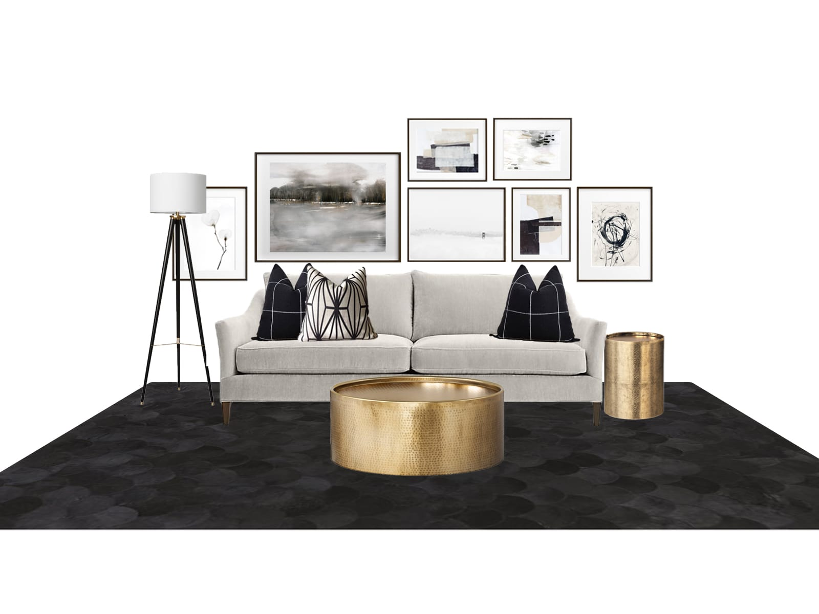 Interior Design Dramatic and Modern Sofa