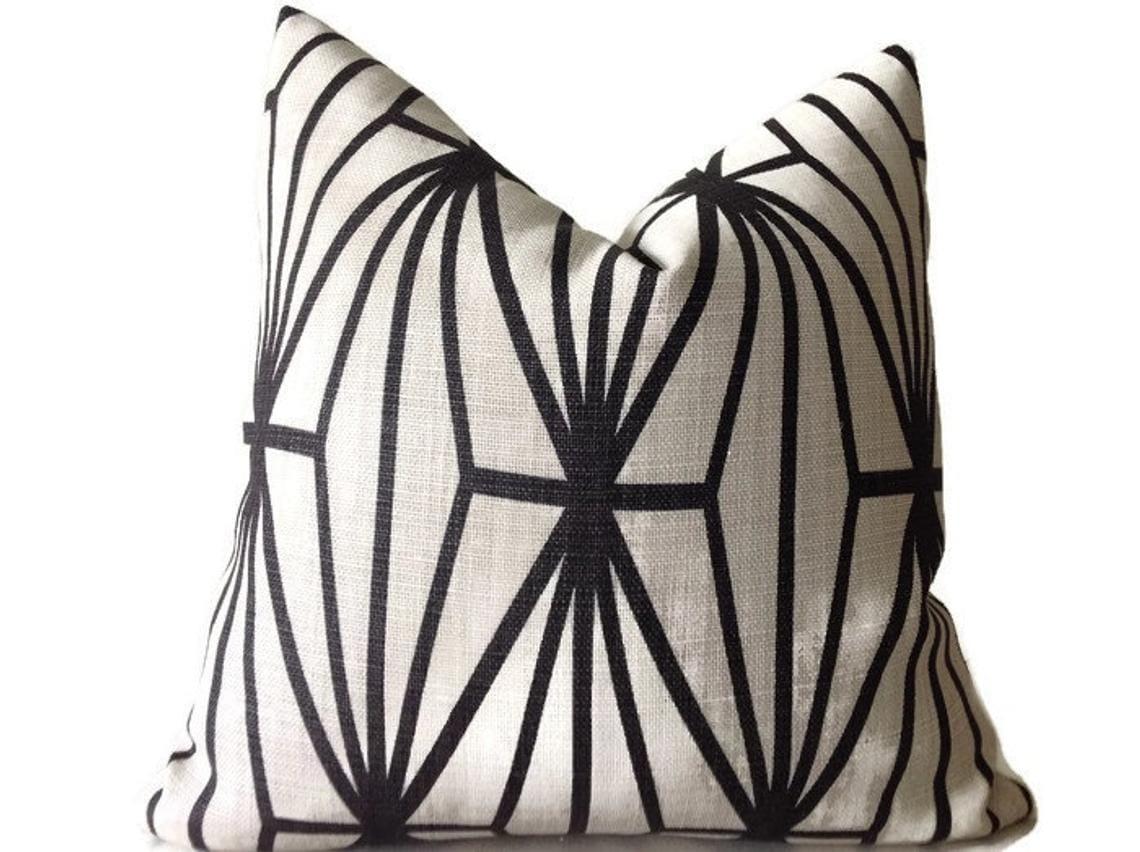 Black Geo Pattern Pillow