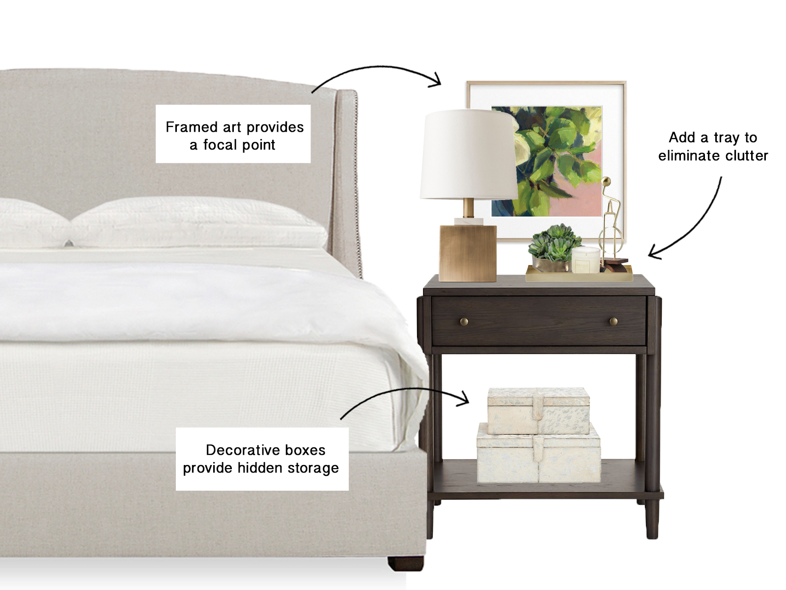 Nightstand Styling Interior Design Tips