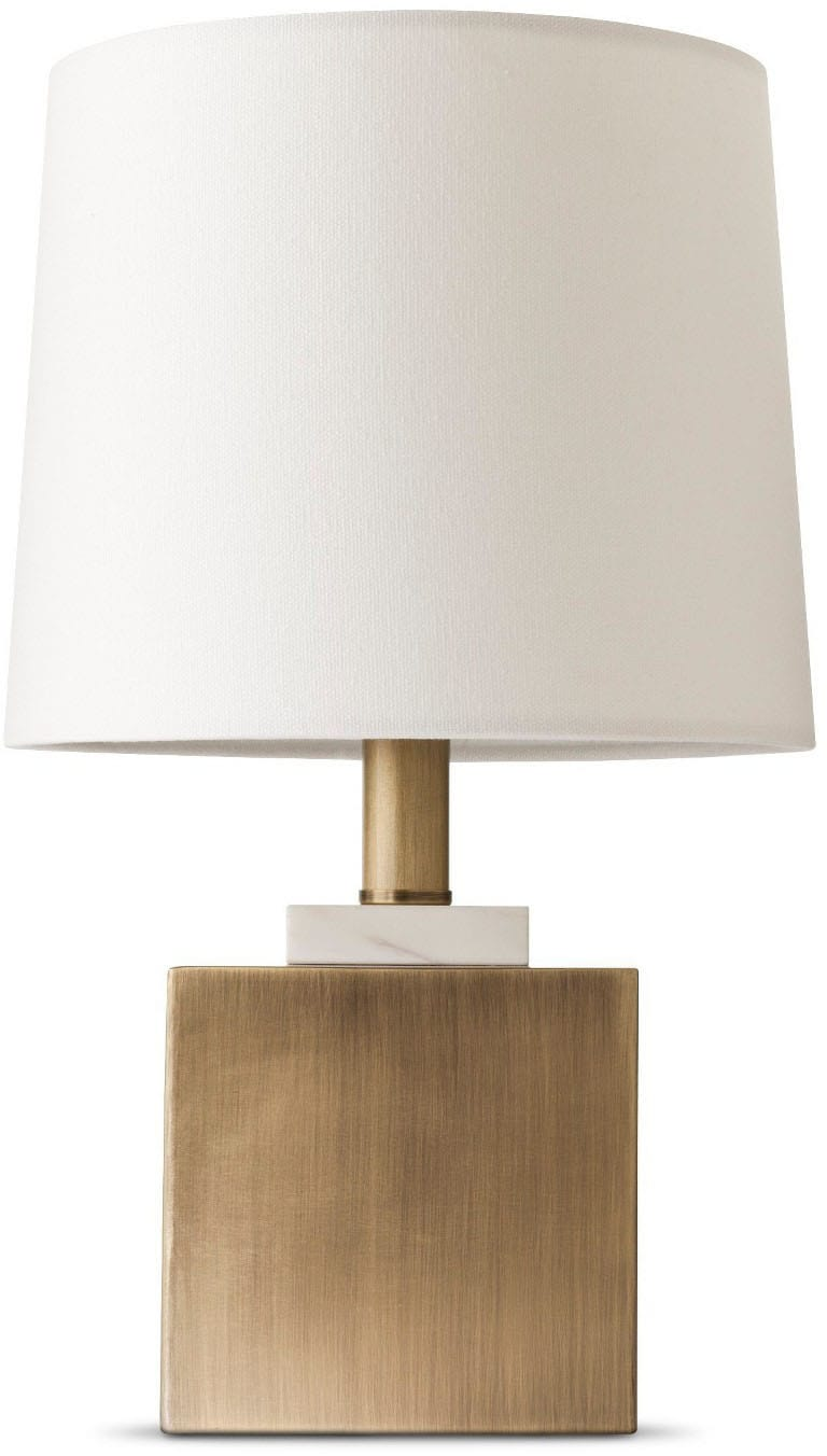Marble Box Accent Lamps Brass