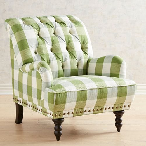 Green Plaid Chair