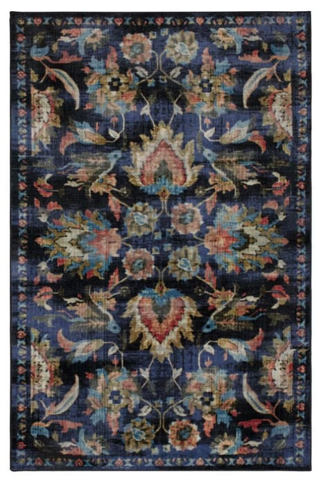 Barkhampstead Power Loom Medium Blue Area Rug