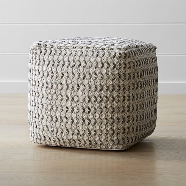Briar 18x18 Neutral Pouf