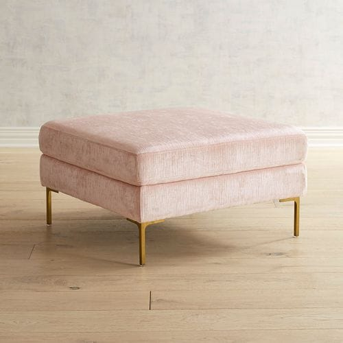 Barrett Blush Cocktail Ottoman