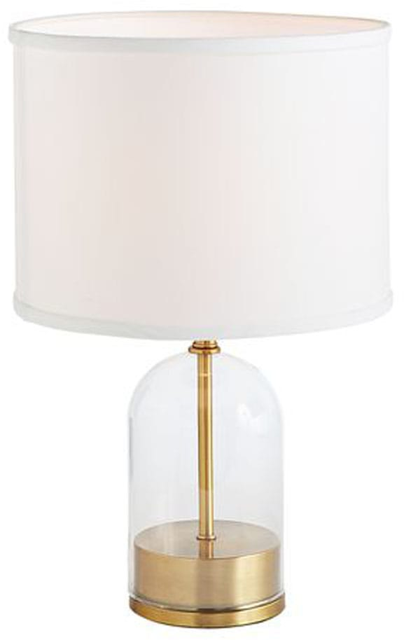 Midge Round Metal & Glass Table Lamp